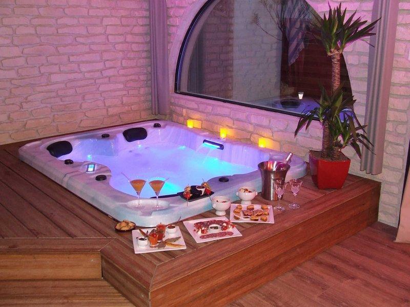 1 Avis Et 10 Photos Pour Chambre Romantique Avec Un Spa tout Chambre D Hotel Avec Jacuzzi Privé