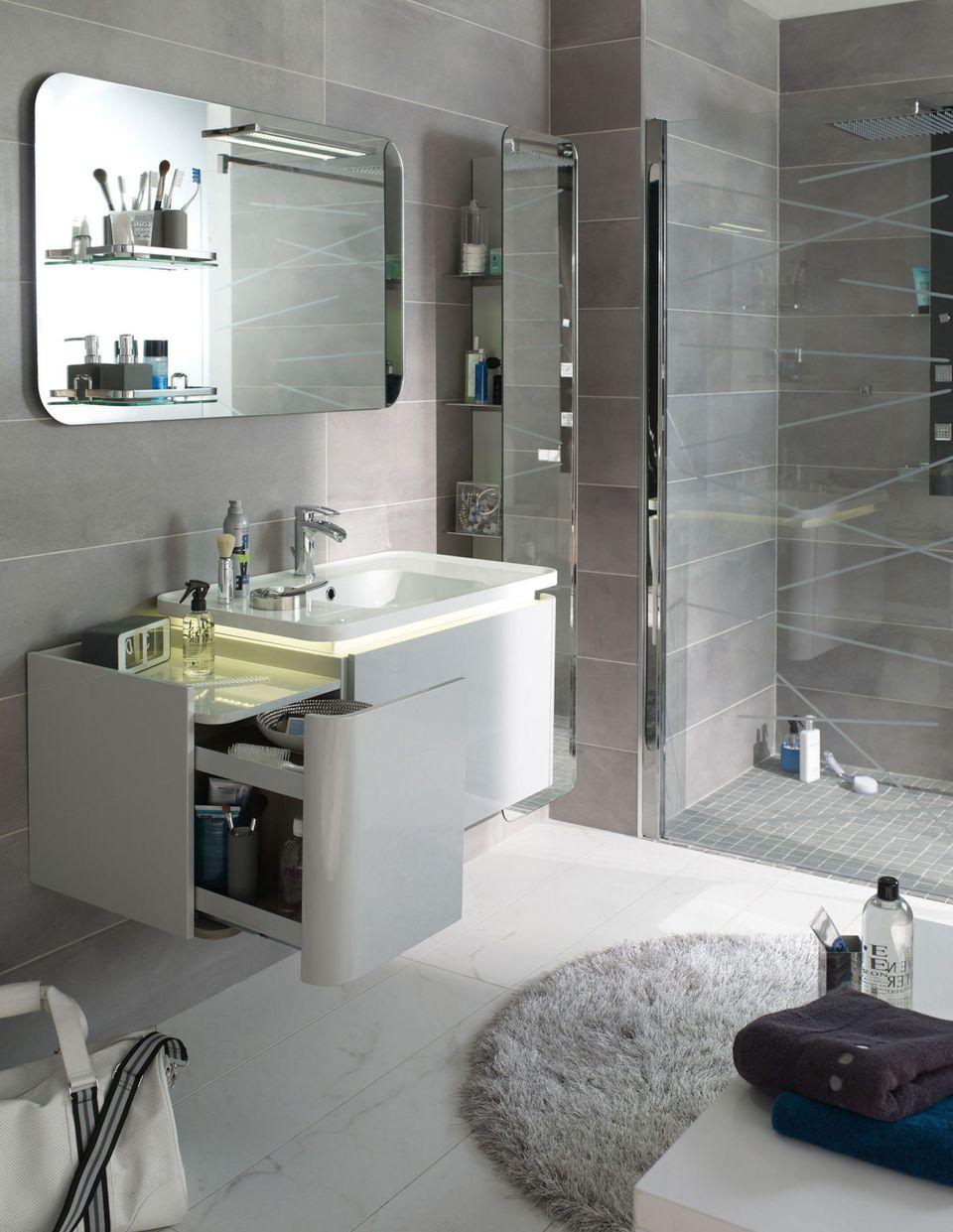 10 Astuces Pour Aménager Une Petite Salle De Bains avec Modèle De Salle De Bain Avec Douche