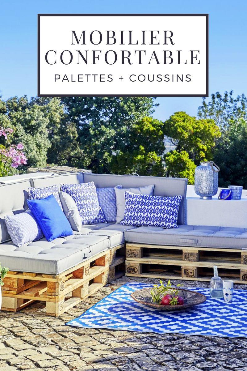 11 Idées De Meubles Confortables À Fabriquer Avec Des tout Coussin Pour Salon De Jardin En Palette