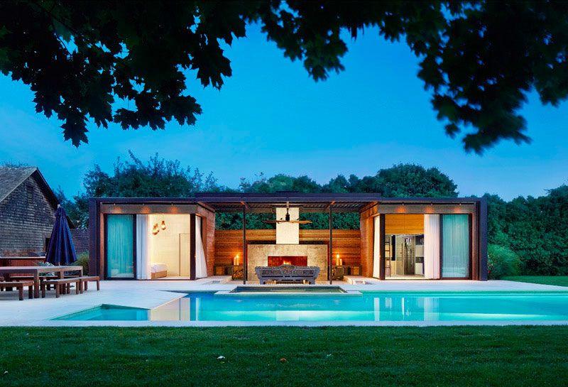 11 Idées Pour Intégrer Un Pool House Moderne À Coté De avec Idees Pool House Piscine