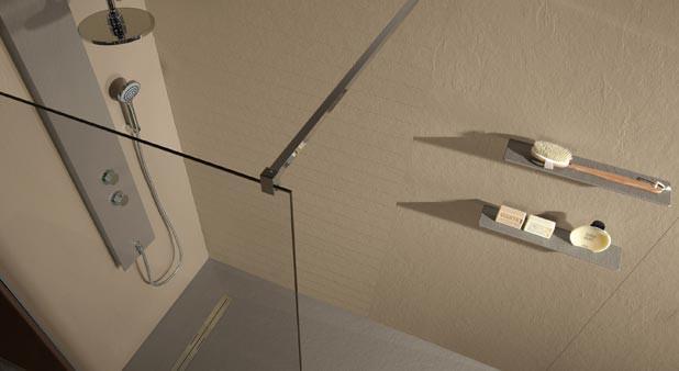 11 Panneaux Muraux Étanches Pour Habiller La Douche avec Stratifié Haute Pression Salle De Bain Mural