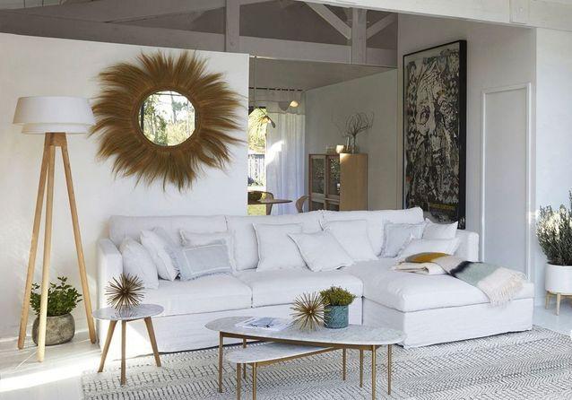 16 Idées De Salons Blancs Canons En Images - Elle Décoration pour Idee De Salon