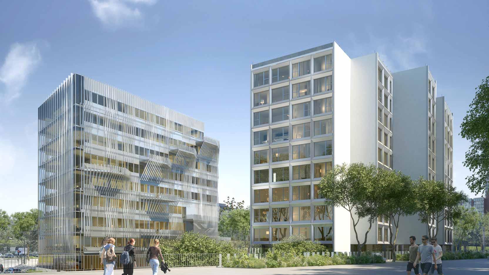 1Ère Pierre De Gymnote, Ensemble Immobilier À Cergy | Ga serapportantà Chambre Des Metiers Cergy