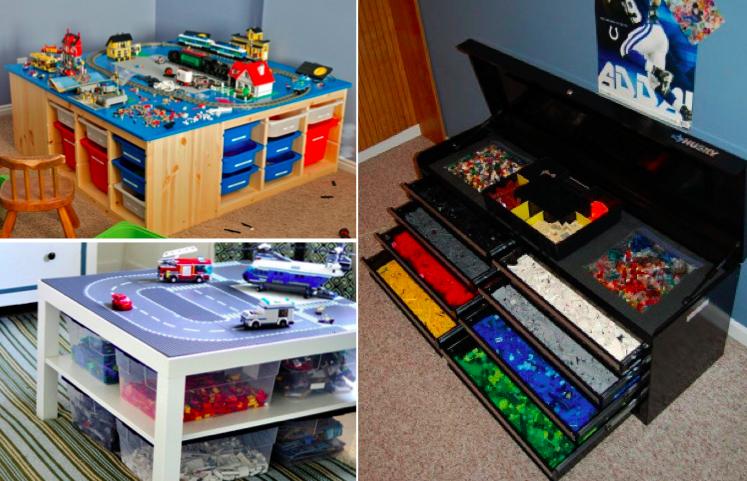 20 Idées Hyper Pratiques Pour Ranger Les Lego encequiconcerne Meuble Lego