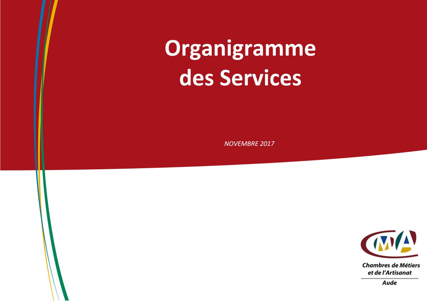 2017 11 20 Organigramme 2017 Cma11 Interne By Chambre à Chambre Des Metiers Carcassonne