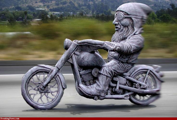 21 Best Biker Gnomes Images On Pinterest   Biker Gnomes intérieur Nain De Jardin Fuck