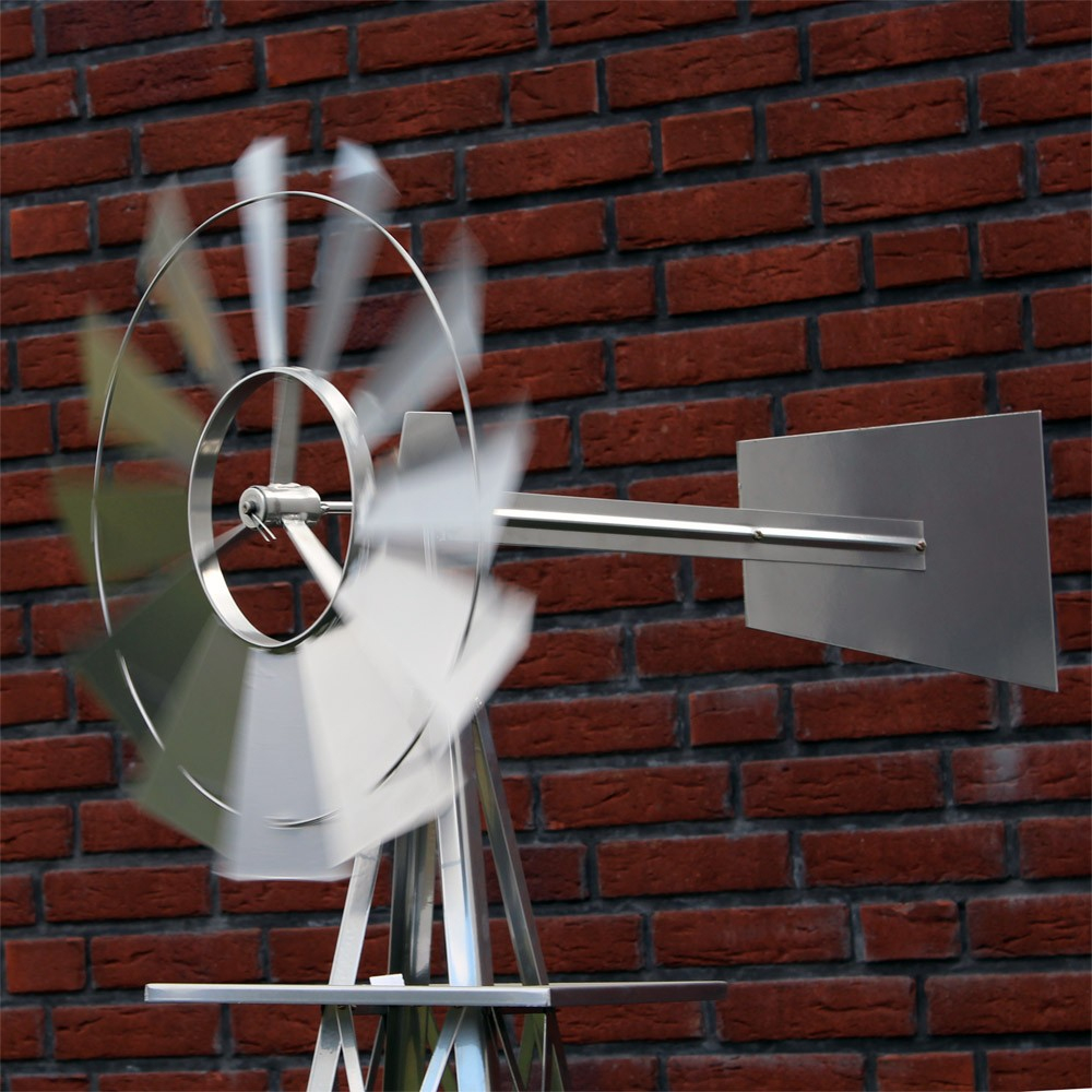 31.04 Eur Us Windrad Silberfarben Windmühle Windspiel dedans Eolienne De Jardin