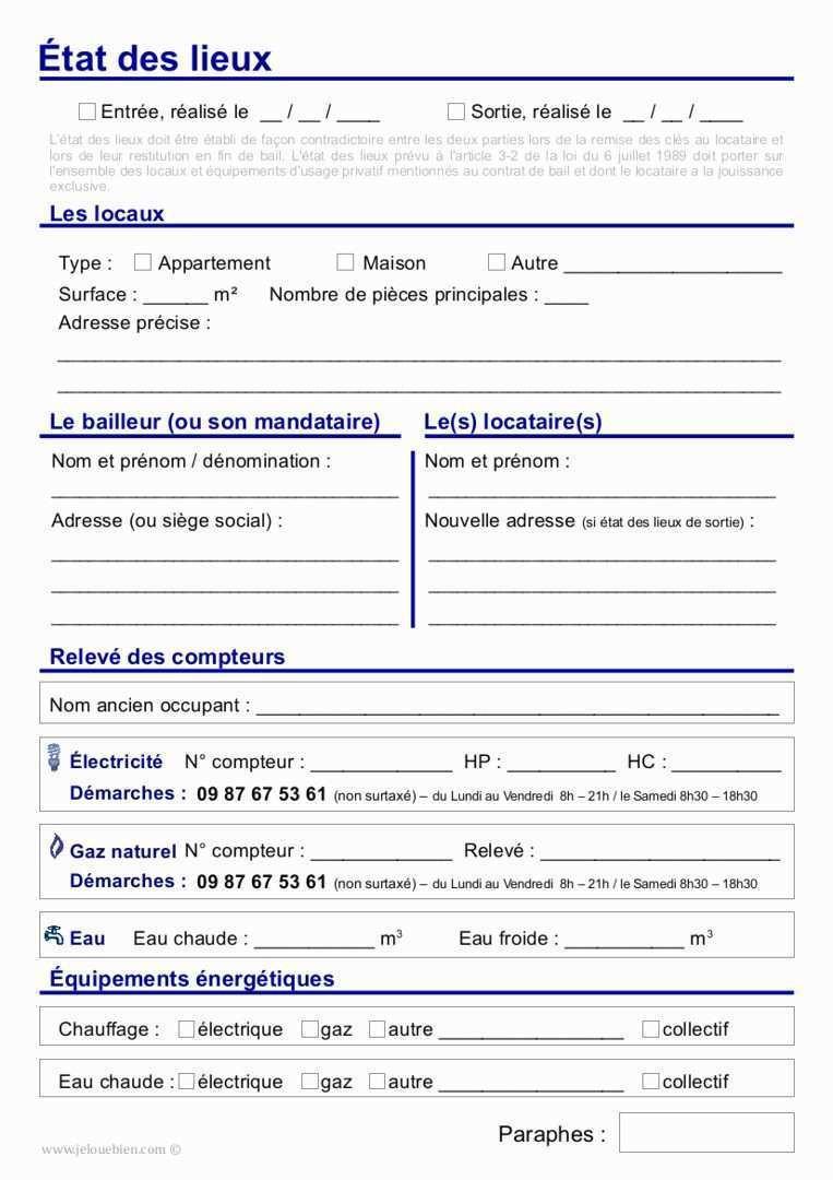 35 Élégant Modele Etat Des Lieux Meublé Gratuit Format avec Modele Bail Location Gratuit Word
