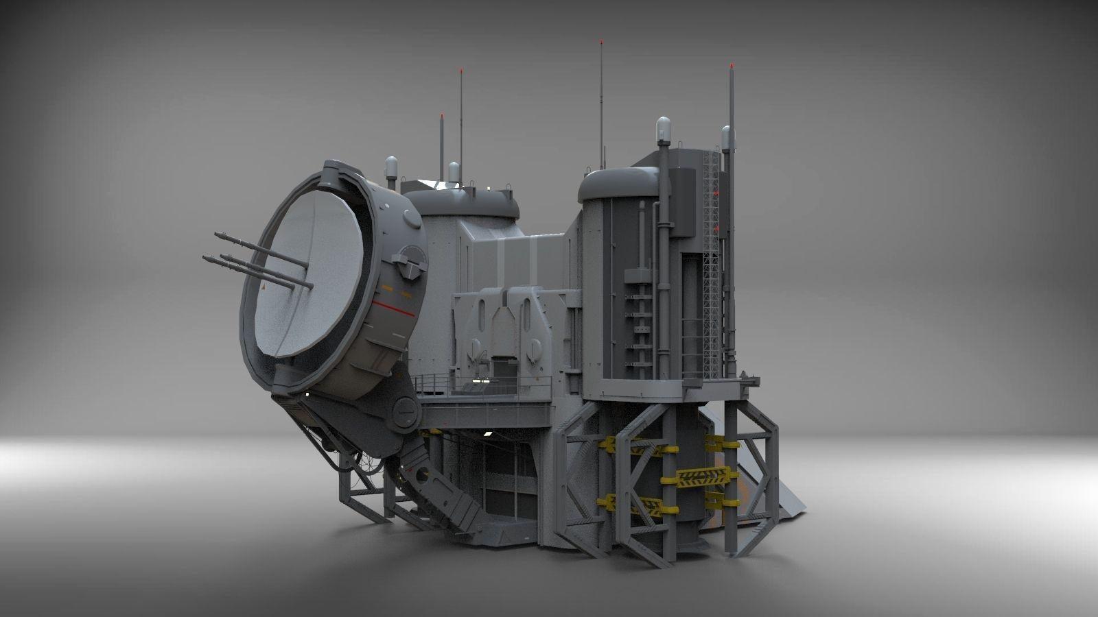 3D Model Sci-Fi Radar Location   Cgtrader intérieur Location Sci