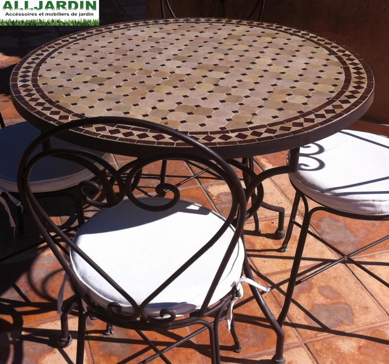 46 Source D'Inspiration Salon De Jardin Ceramique Et Fer dedans Salon De Jardin Table Ronde