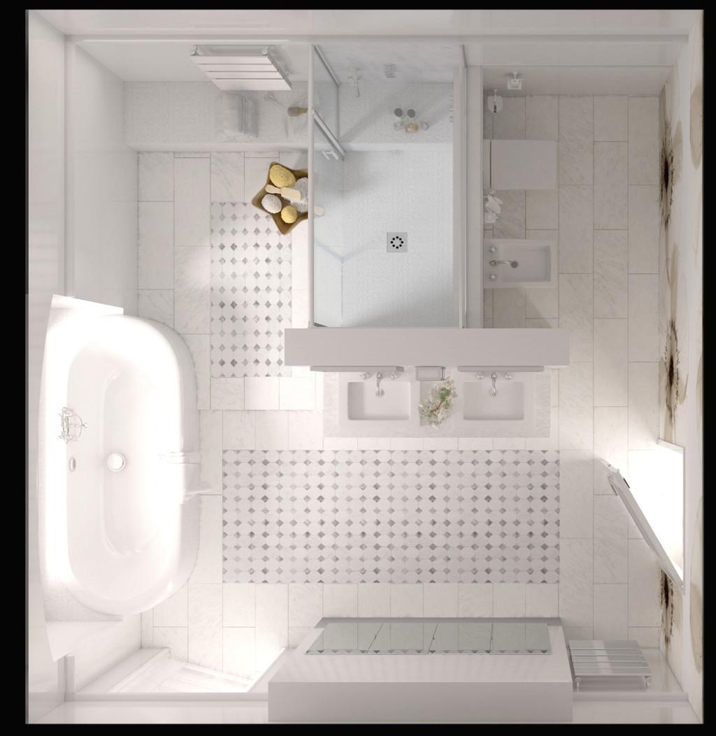 4M2 Douche Cher Idee Salle Bain Wc Pour Deco Longueur Sans pour Vmc Salle De Bain Avec Fenetre