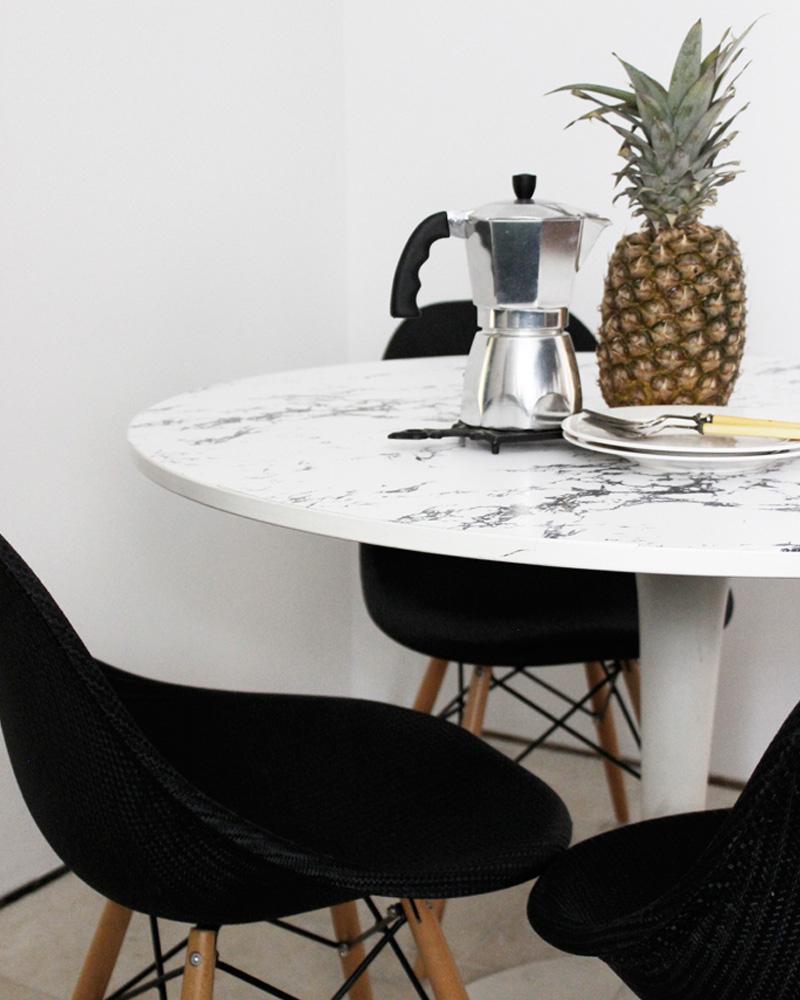 5 Tables Diy Pour Votre Salle À Manger | Shake My Blog concernant Table Salle A Manger En Marbre