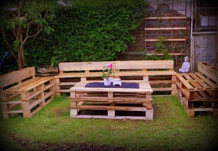 52 Idées Pour Fabriquer Votre Meuble De Jardin En Palette concernant Dossier Incliné Palette