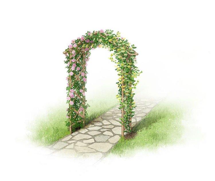 6 Styles D' Arche De Jardin Pour Booster La Décoration concernant Arche De Jardin En Bois