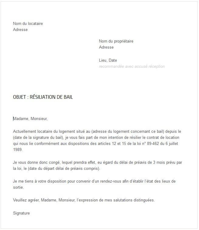 77 Modèle Résiliation Bail Meublé concernant Déclaration Meublé