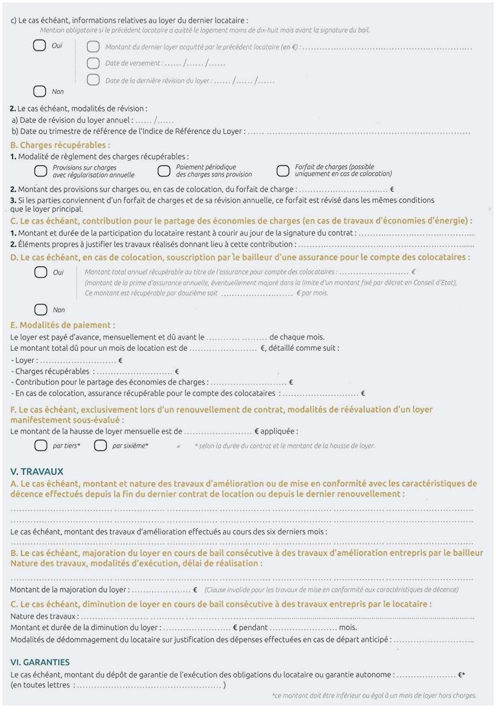 95 Conception Location Meublée Bail concernant Contrat De Location Meublé Gratuit