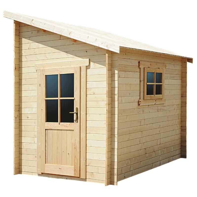 Abri Adossé En Bois Massif 28Mm Brut 5,92M² Gardy Shelter intérieur Abri De Jardin Bois 5M2 Castorama