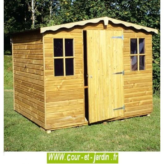 Abri Bois Europe 3,75M² - Abris Et Rangements- Cour Et Jardin encequiconcerne Abri De Jardin En Bois Namur