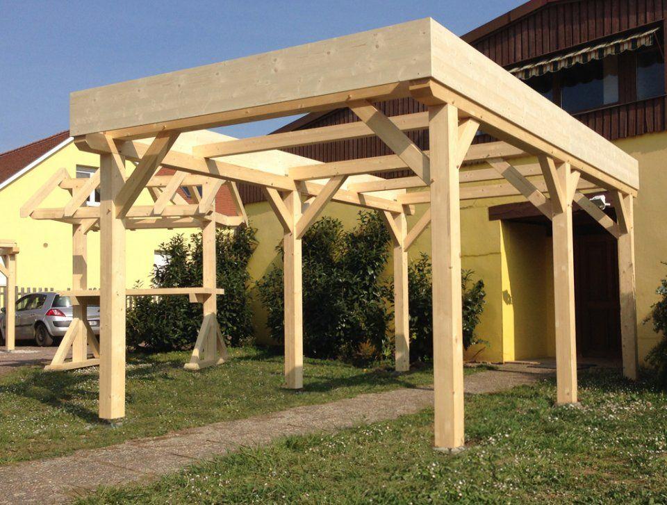 Abri Carport Toit Plat 1 Voiture | Toit Plat, Abri Bois intérieur Abris Jardin Toit Plat