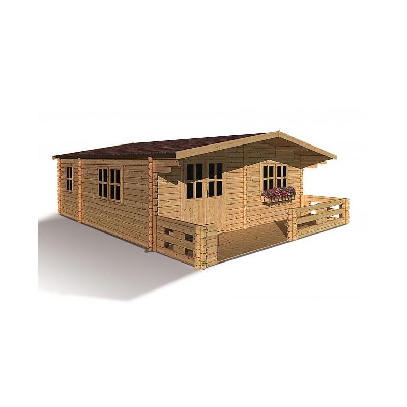 Abri De Jardin 44Mm Semi-Habitable 35,76M² + Plancher destiné Abri De Jardin Habitable