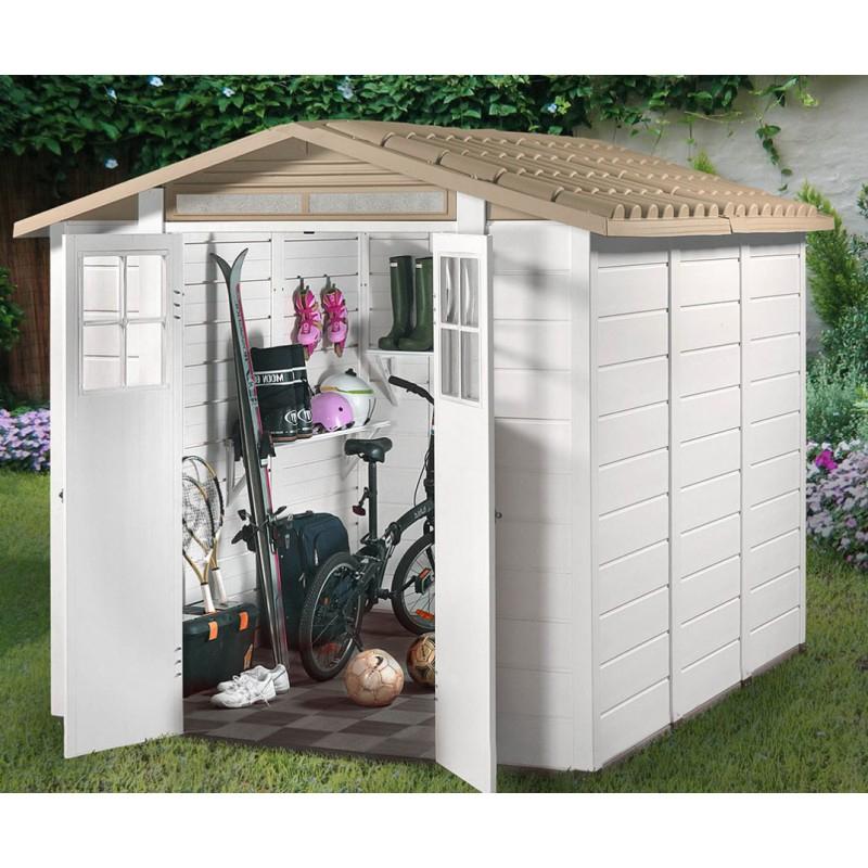Abri De Jardin 6,03M² En Pvc Avec Plancher Evo Tuscany 240 tout Abri De Jardin Avec Plancher