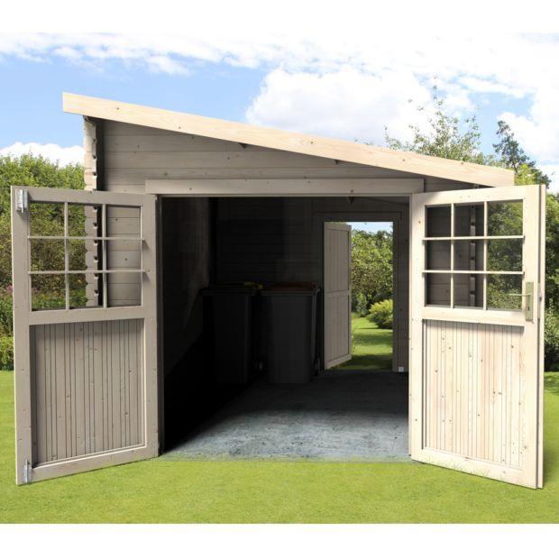 Abri De Jardin Adossable Bois 9,59 M² Ep. 28 Mm Esprit pour Abri De Jardin 18M2
