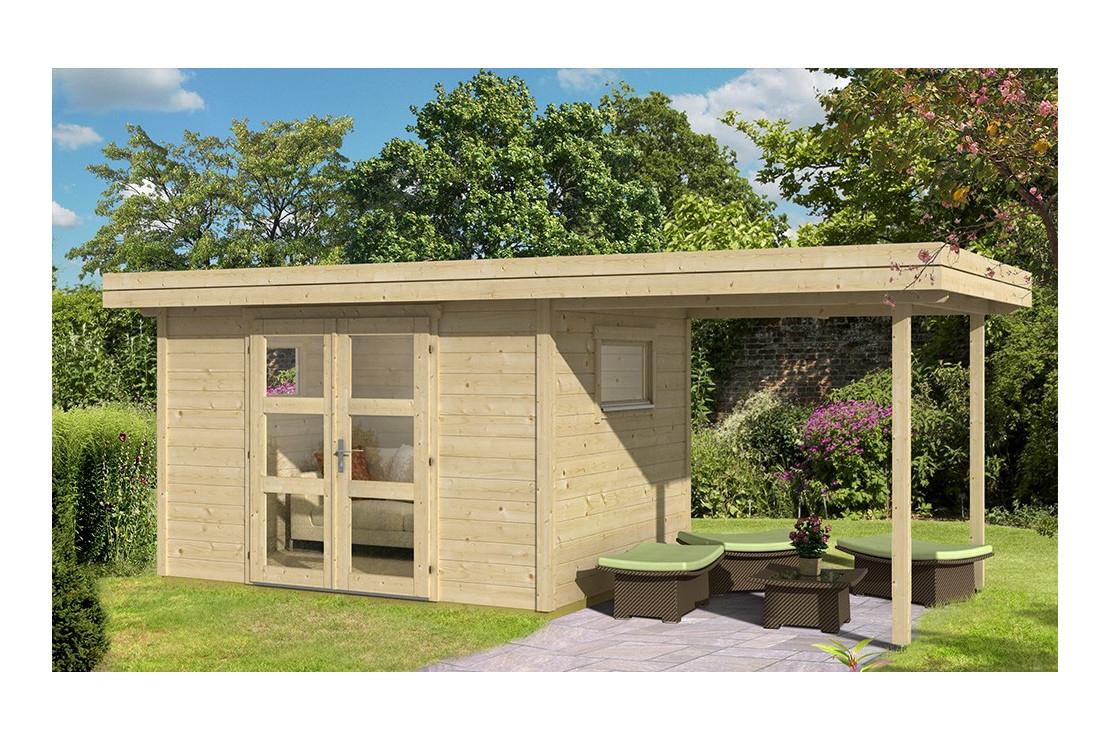 Abri De Jardin Annecy 4 28Mm - 7,3M² Intérieur + 5,2M² encequiconcerne Abris De Jardin Toit Plat