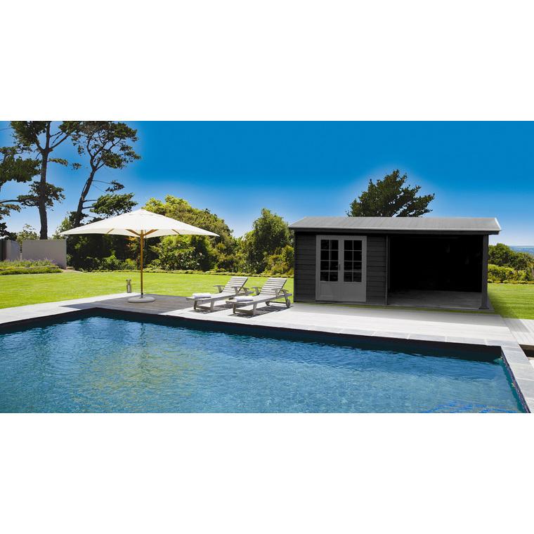 Abri De Jardin Antibes Composite 18,5 M² : Abris De Jardin intérieur Abri De Jardin En Composite