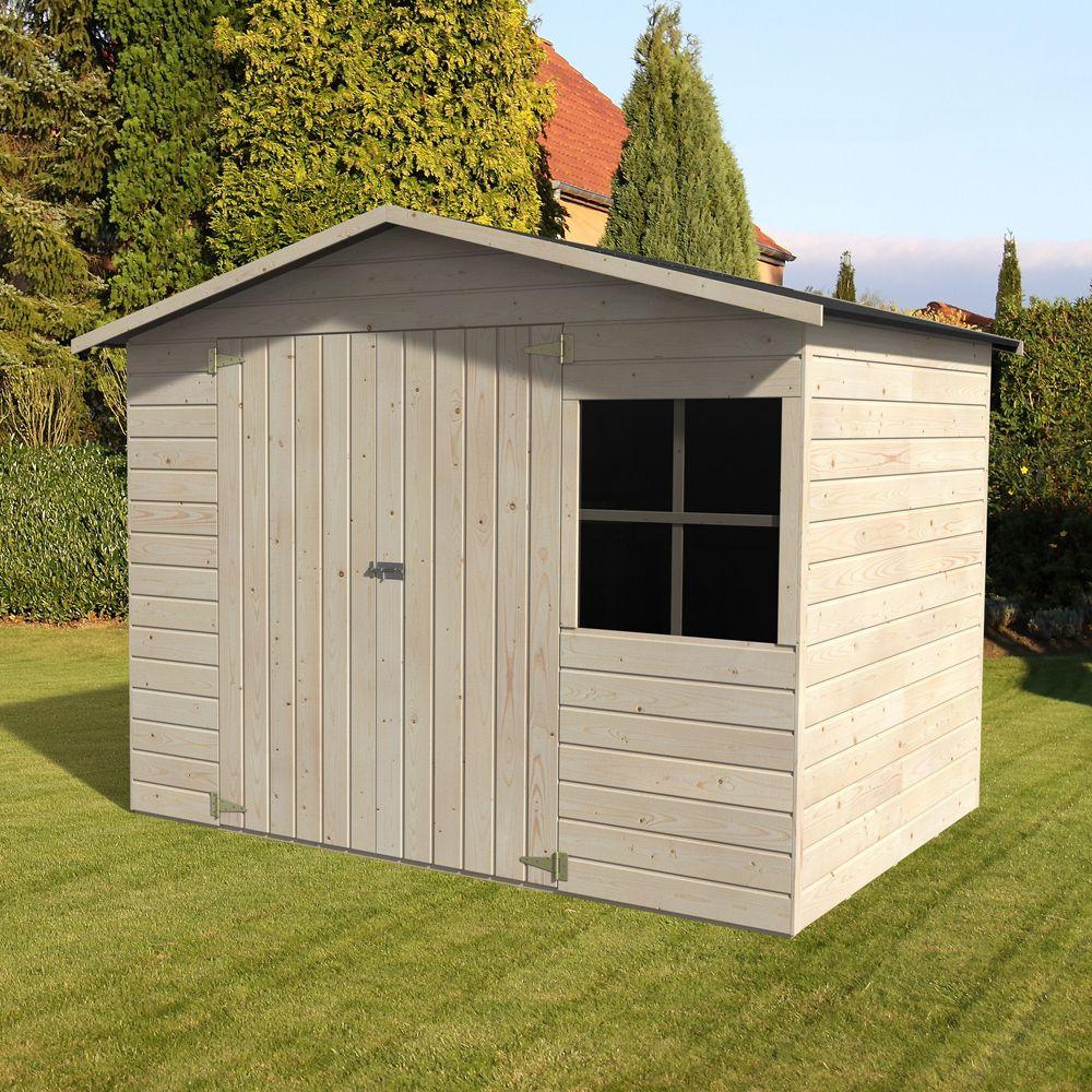 Abri De Jardin Bois Avec Plancher 5.29 M² Ep.12 Mm Loguec pour Abrie De Jardin