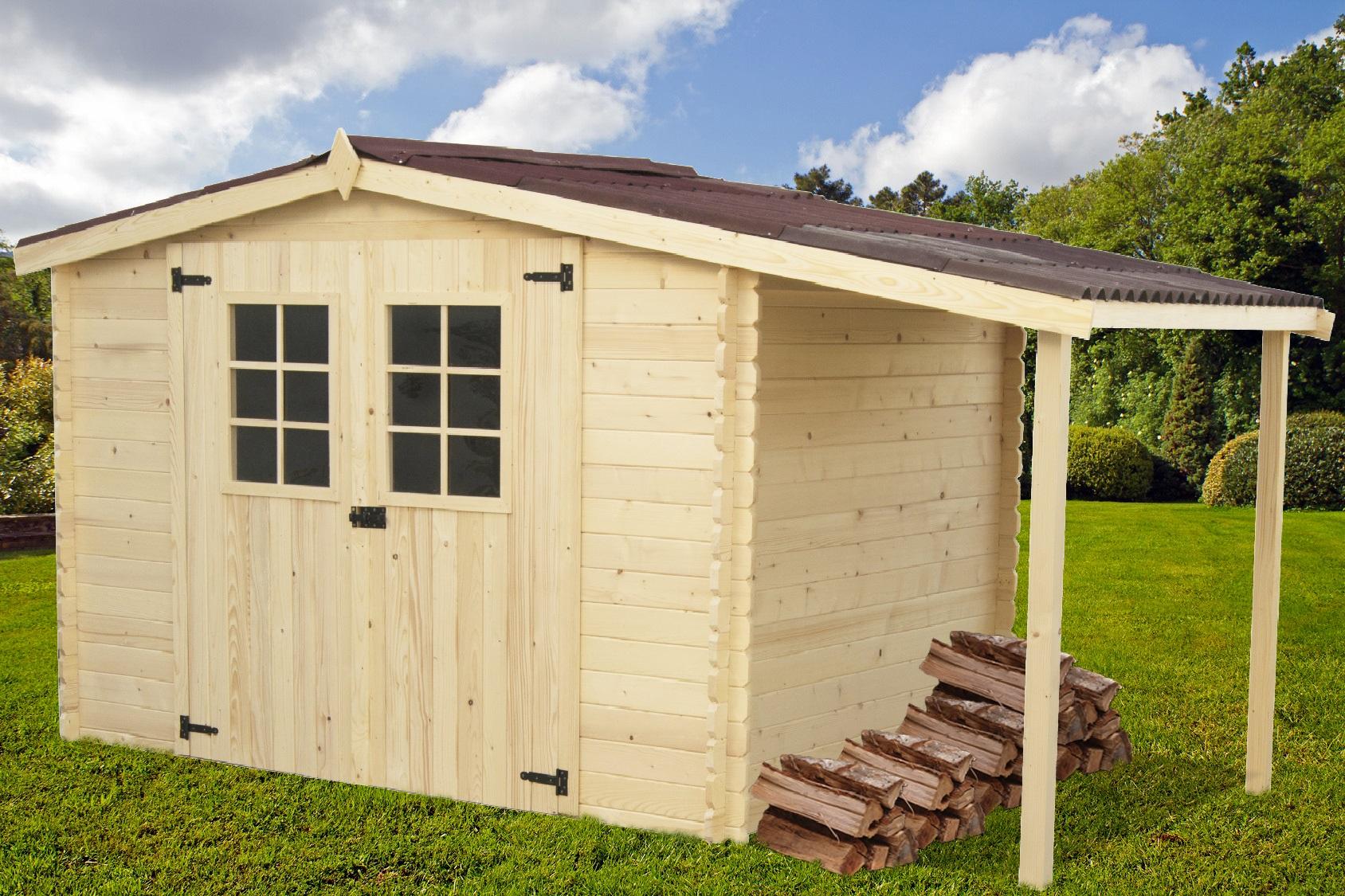 Abri De Jardin Bois Cabin 5M2 avec Abri De Jardin En Bois 5M2