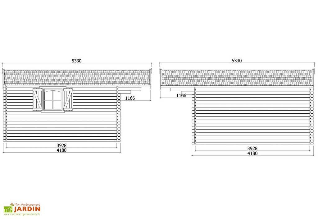 Abri De Jardin Bois Chamonix 40Mm (478X418Cm) - Solid destiné Abri De Jardin En Longueur