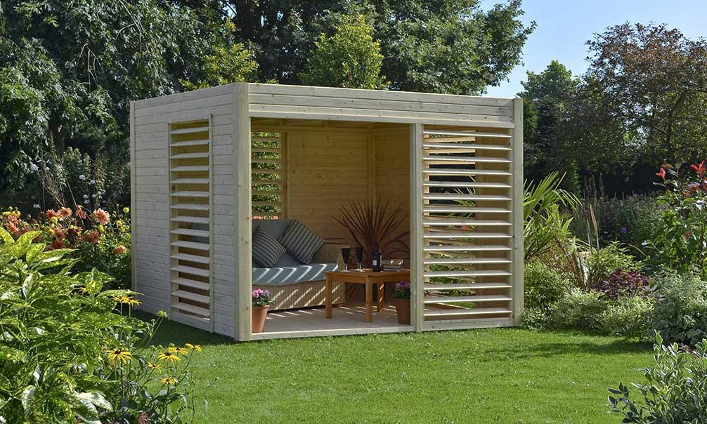 Abri De Jardin Bois Design 19Mm Arty 264X256X223Cm destiné Abri De Jardin Design