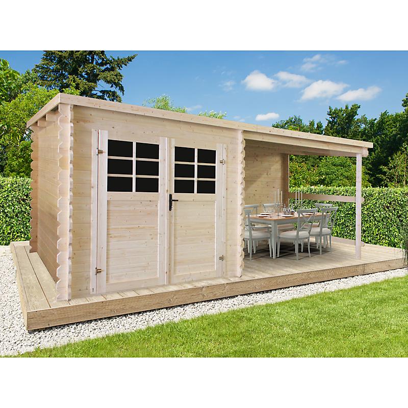 Abri De Jardin Bois Initia 28 Mm 4,60 M² - Maison Et avec Abris De Jardin Leclerc