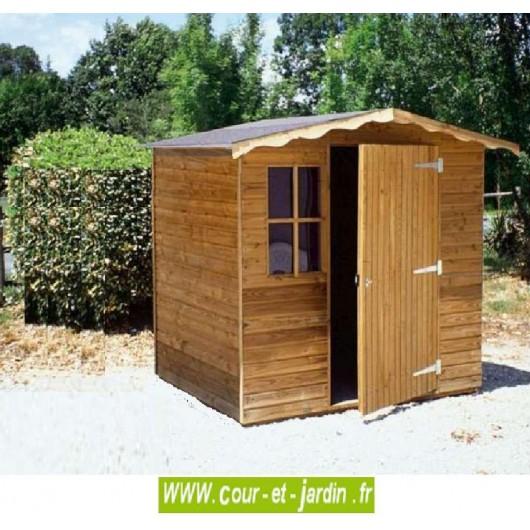 Abri De Jardin Bois Traite 5M2 intérieur Abri De Jardin En Bois 5M2