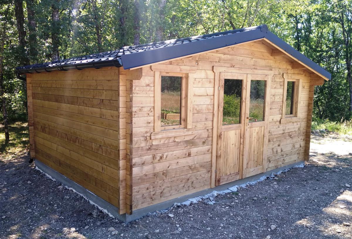 Abri De Jardin Bois Traité Eco 19.80 M² - 28 Mm destiné Abris De Jardin Bois