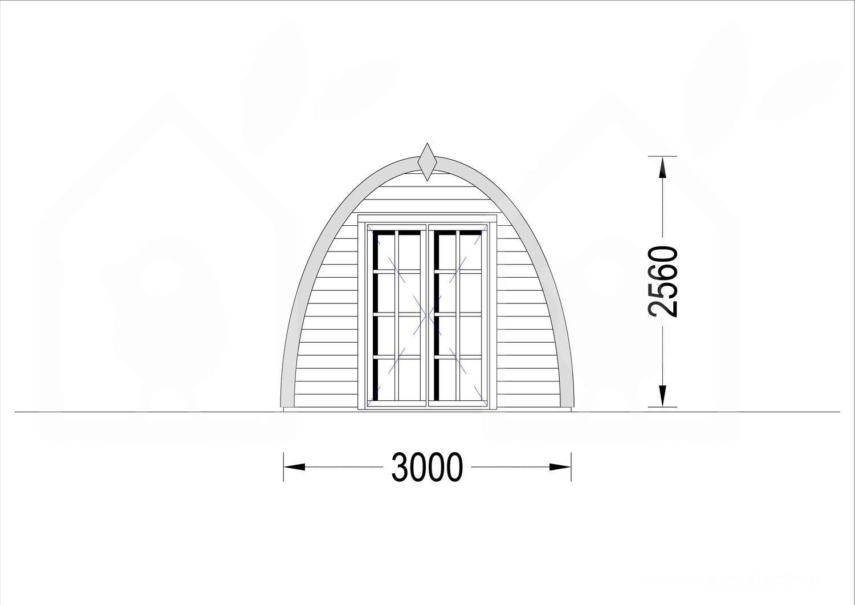 Abri De Jardin Bretagne (28 Mm), 3X6 M, 18 M² tout Abri De Jardin 2X3