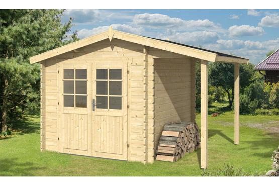 Abri De Jardin Bretagne Appentis 34 Mm - 5M² Intérieur + 2,2M² serapportantà Abri De Jardin Avec Bucher
