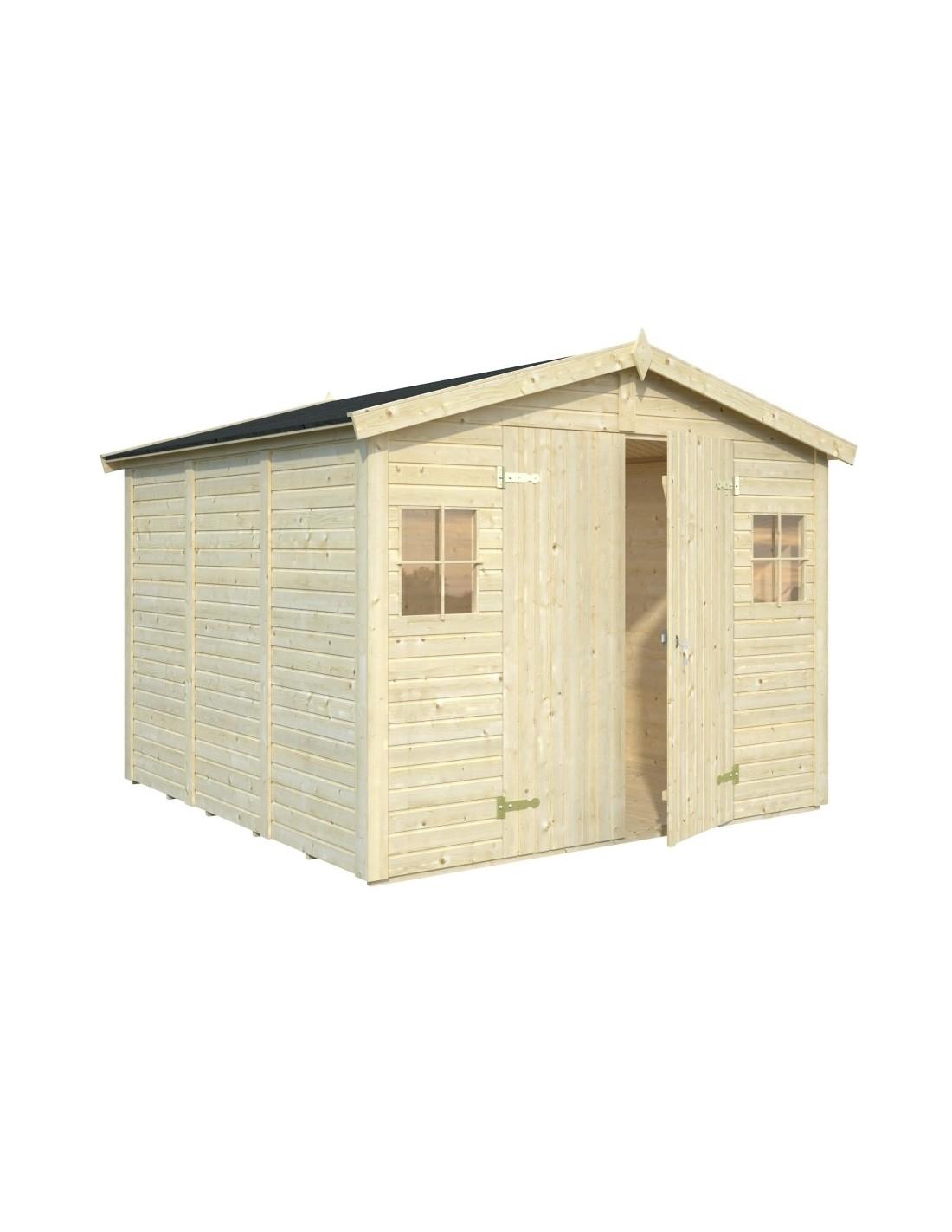 Abri De Jardin Dan 7.7 M² Avec Plancher - Serres-Et-Abris avec Abri De Jardin Avec Plancher