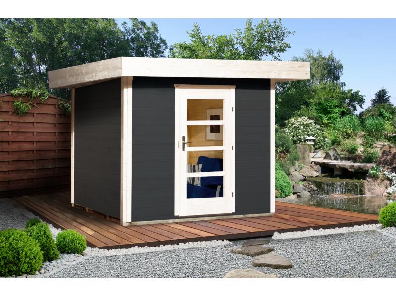 Abri De Jardin Design De 5,6 M2, Anthracite, Taille 1 intérieur Abri De Jardin 5 M2
