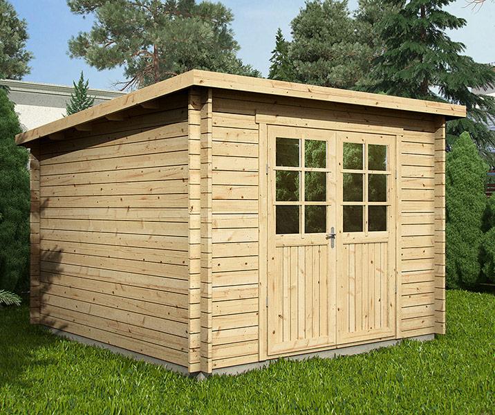 Abri De Jardin En Bois Hurtgen 9,5 M² - Toit Plat avec Abri De Jardin Oogarden