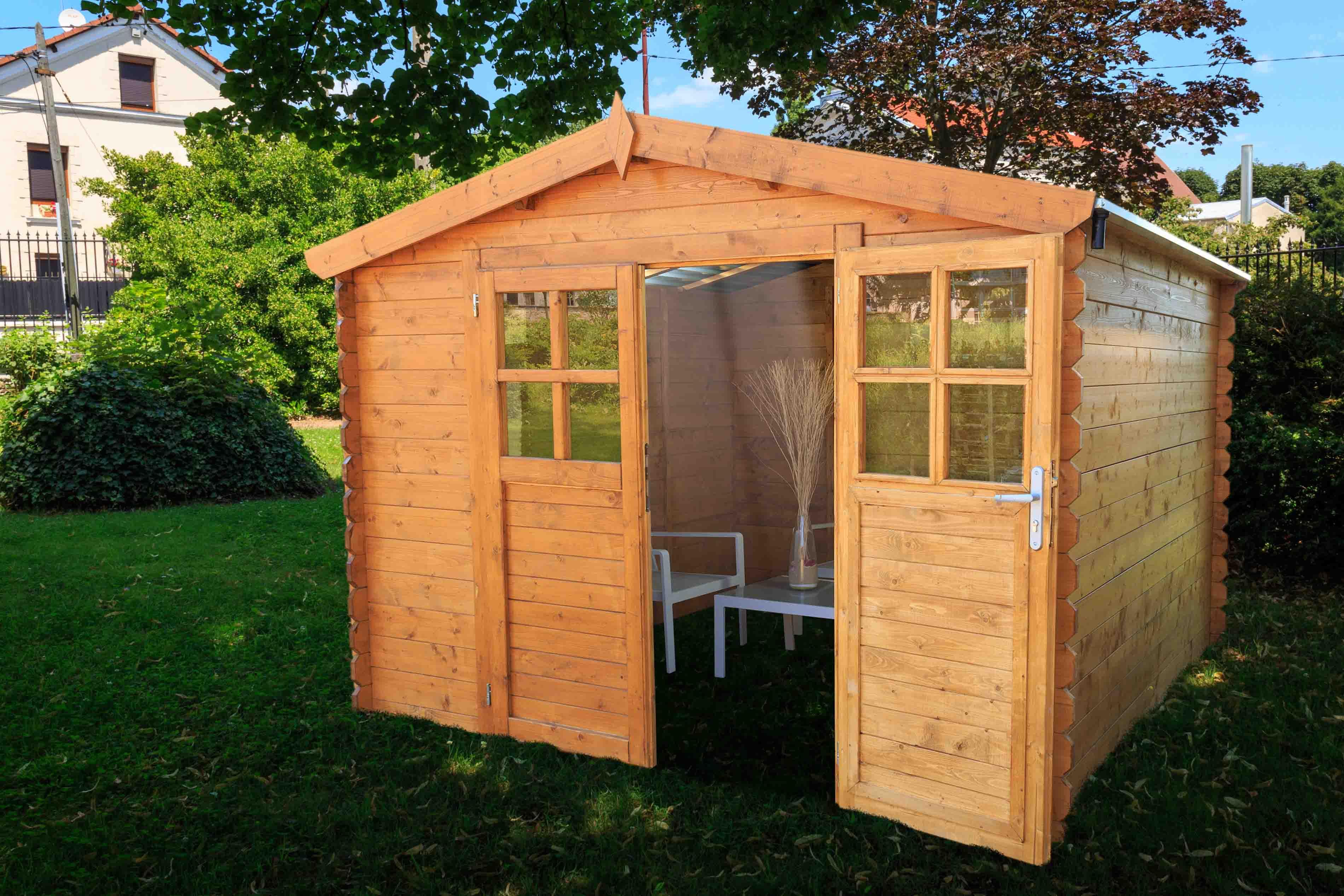 Abri De Jardin En Bois Soleil 3X2 Avec Toit Transparent concernant Abri De Jardin En Bois Namur