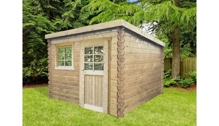 Abri De Jardin En Bois Traité Ou Non 28 Mm 4.60 M² Solid encequiconcerne Abri De Jardin En Longueur