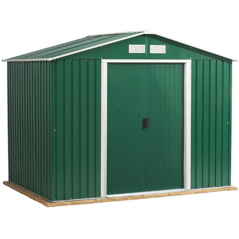 Abri De Jardin En Métal Vert Pin 6,35M² De Duramax à Abri De Jardin Métallique
