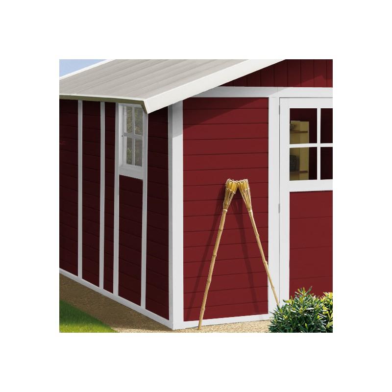 Abri De Jardin En Pvc 11,2M² Deco Rouge Et Blanc Grosfillex avec Abris De Jardin Grosfillex