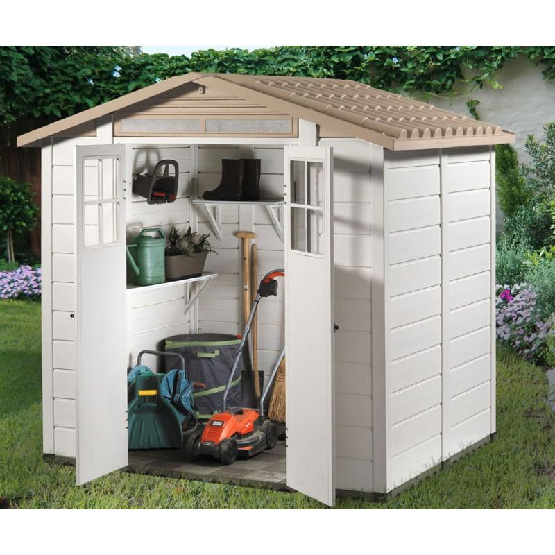 Abri De Jardin En Pvc 3,98M² Avec Plancher Evo Tuscany 200 à Abri De Jardin Avec Plancher