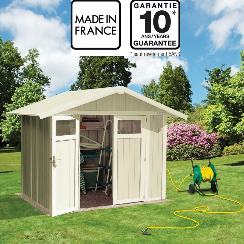 Abri De Jardin En Pvc 4,9M² Utility Blanc Et Gris Vert dedans Abri De Jardin Grosfillex
