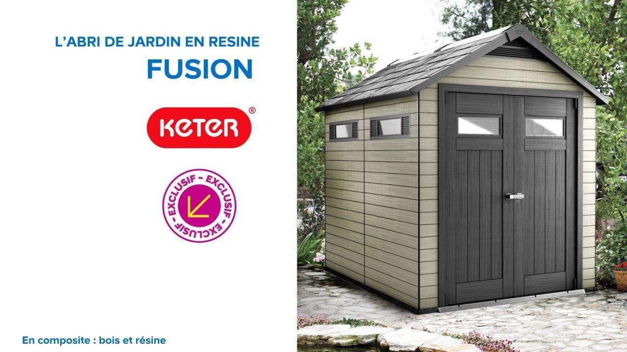 Abri De Jardin En Résine Fusion 759 Keter (676227 avec Castorama Cabane De Jardin