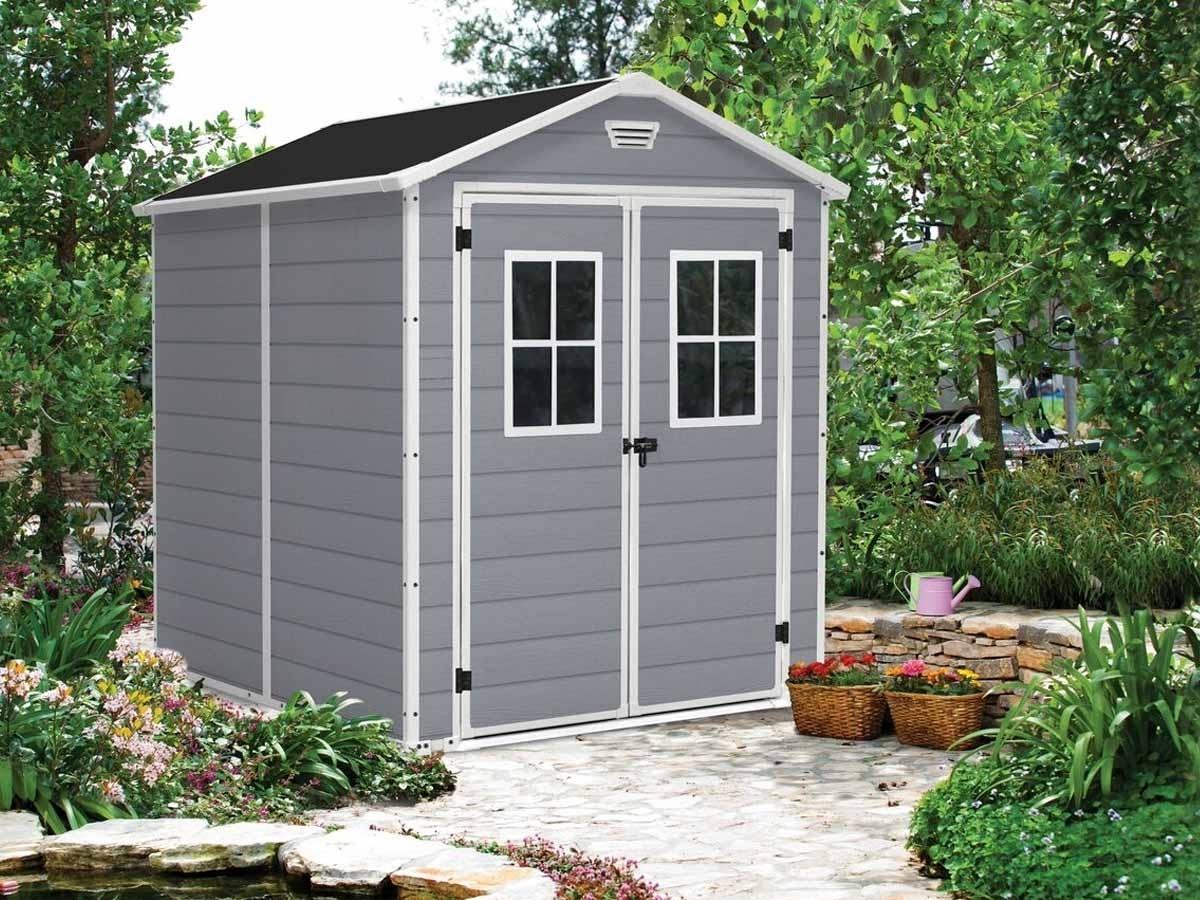 Abri De Jardin En Résine Premium 86 Double Porte   Jardideco pour Porte Abri De Jardin 2 Vantaux