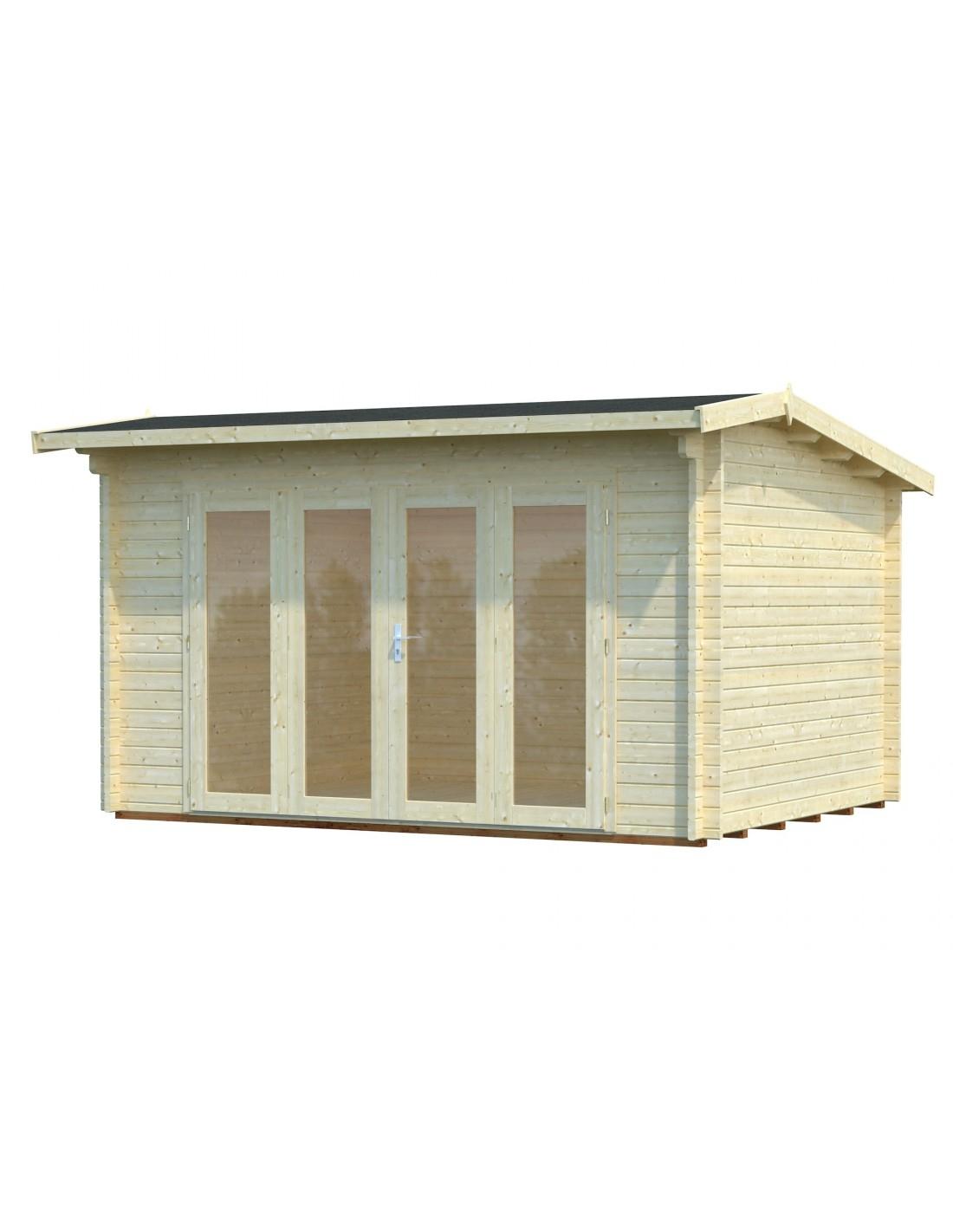 Abri De Jardin Ines 11.7 M² Avec Plancher - Serres-Et-Abris intérieur Abri De Jardin Avec Plancher
