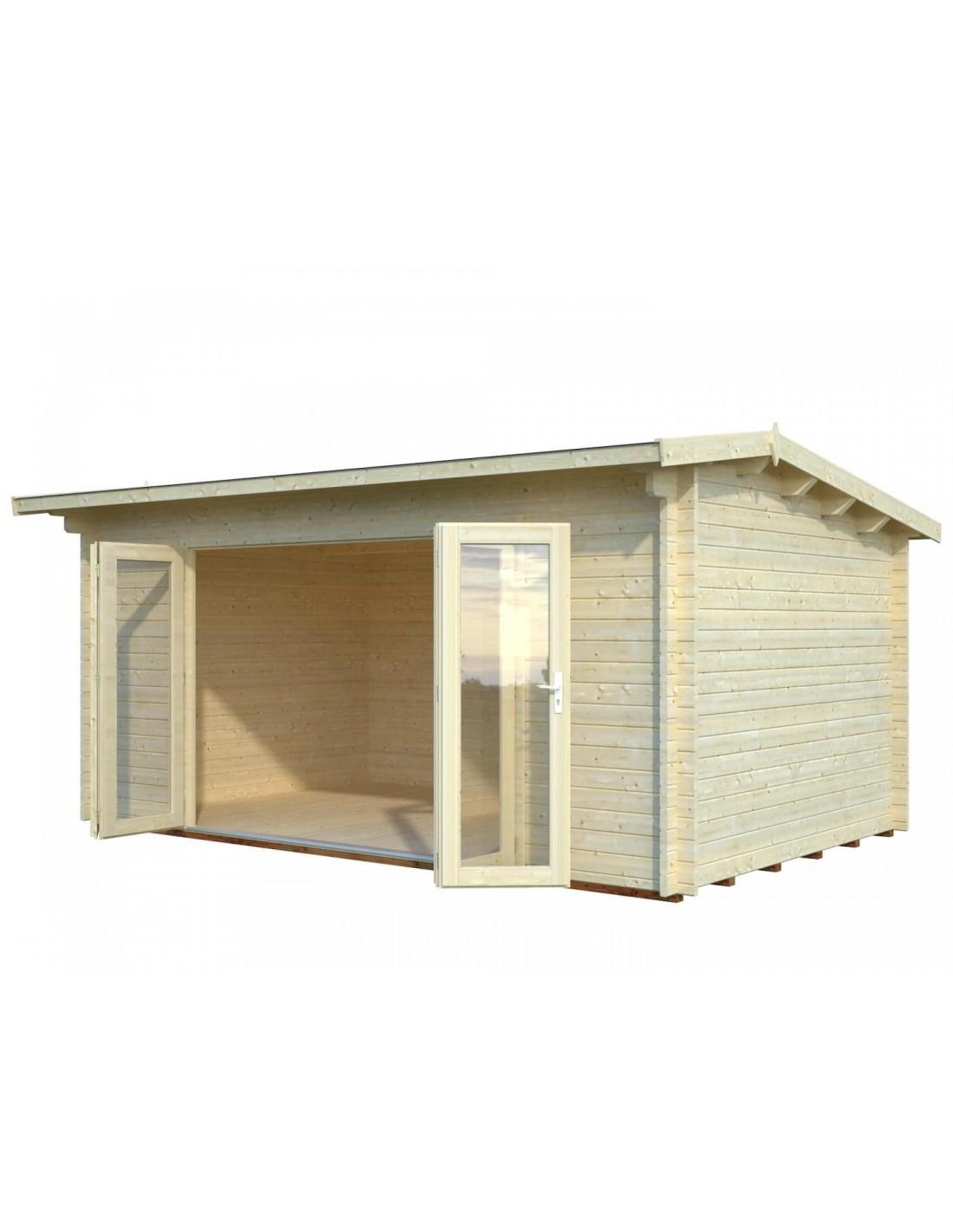 Abri De Jardin Ines 14.4 M² Avec Plancher - Serres-Et-Abris destiné Abri De Jardin Avec Plancher